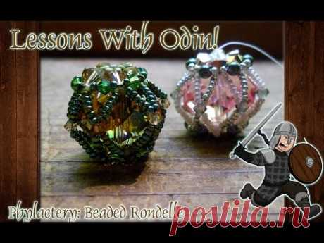 Beaded Bead Crystal Rondelle Jewelry Making Tutorial - Lessons With Odin