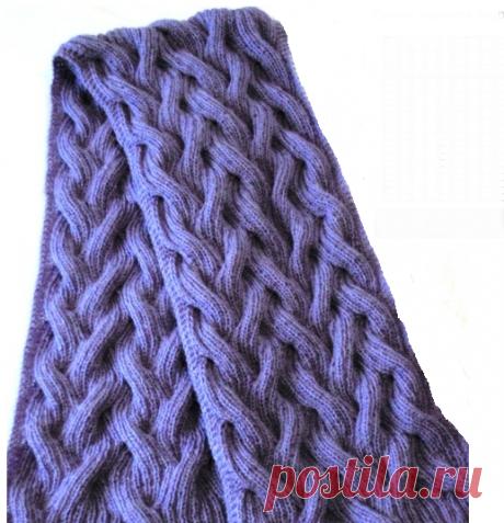 Узоры для вязания снуда, шарфа