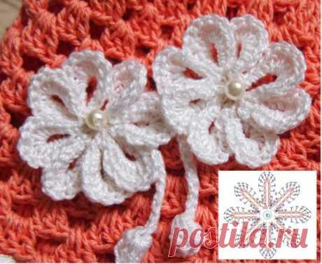 Цветы крючком для украшения. Легко и быстро. Простые цветы крючком, которыми можно украсить шапку, сумку, заколку, резинку и ещё что-нибудь. Как вязать такой цветок я подробно рассказываю в видео уроке https://youtu.be/NpdqnSGFbKA