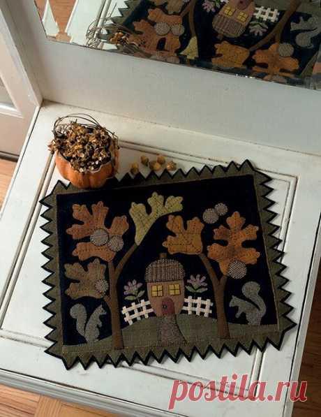 Неожиданный, но такой уютный пэчворк: темные ткани, фетр и фланель | Я люблю пэчворк | Яндекс Дзен