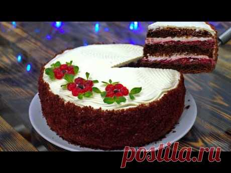 Торт ВИШНЯ в ШОКОЛАДЕ | Бюджетный Торт с Богатым Вкусом | Кулинарим с Таней