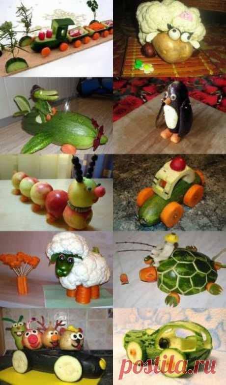 Поделки из овощей и фруктов для детского сада и школы