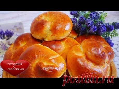 ВКУСНЫЕ булочки с яблоками на НОЧНОМ ТЕСТЕ на ВОДЕвыпечка с яблокамипростой рецепт - YouTube