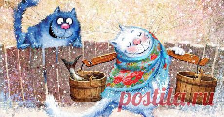 Blue cats of happiness of Irina Zenyuk - the Fair of Masters - handwork, handmade