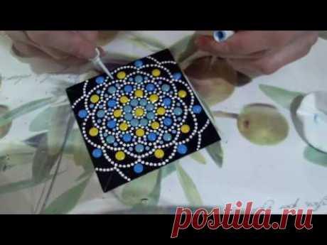 Мастер класс в технике точечной росписи для начинающих. Анна Соколова.