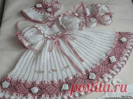 Праздничное платье для девочки схема