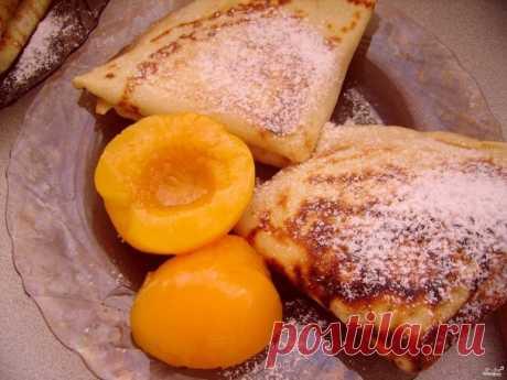 Блины с фруктами - пошаговый рецепт с фото на Повар.ру