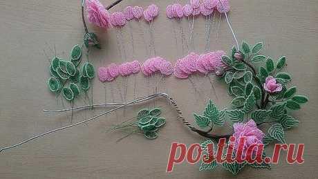 Мини мк по созданию розы из бисера — Сделай сам, идеи для творчества - DIY Ideas