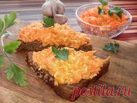 Кто сказал, что бутерброды – это вредно?  Морковно-сырная намазка на хлеб Яркие и полезные!