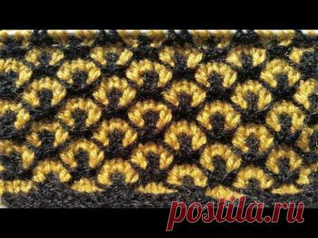 Very Beautiful Double Colour Sweater Pattern (In Hindi)