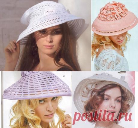 СХЕМЫ-Вяжем детали одежды и аксессуары - Шляпки крючком - 4 потрясающие шляпки от Людмилы Орешкиной. Фантазия, креатив, элегантность.