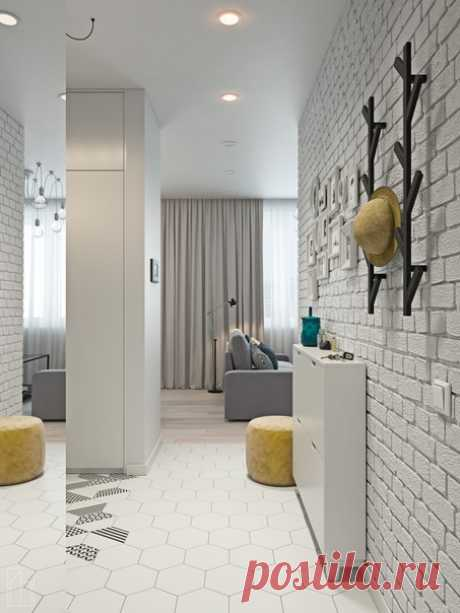 Студия в Москве, площадь 34 кв.м Проект FOX HOUSE INTERIOR DESIGN Дизайнер — Лисица Александр