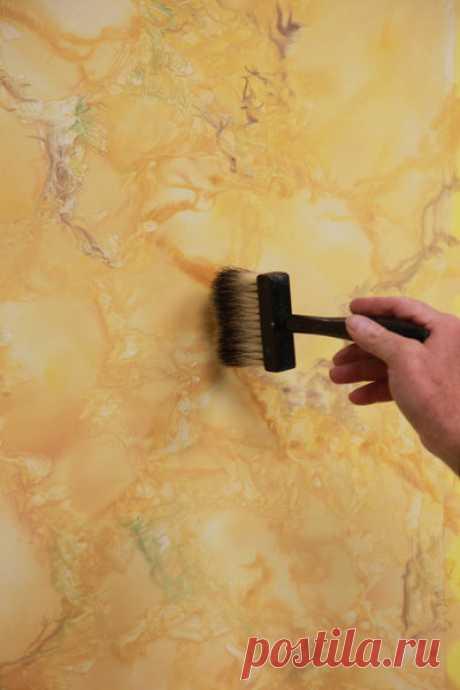 Imitation de faux marbre jaune de Sienne - Galerie photos d'article (15/23)