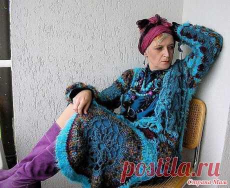 Вязание в Бохо стиле. Вязаное спицами пальто, кардиган, юбка на полных женщин в стиле Бохо своими руками, вязание крючком в стиле бохо самое интересное