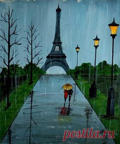 Рисуем дождливый Париж Рисуем дождливый ПарижУвидеть Париж и умереть?Ну нет, мы выбираем нарисовать Париж и жить.Всем вдохновенного творчества.