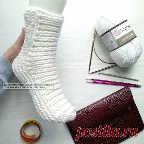 Толстые вязаные носки, тапочки, сапожки, следки - сводный пост описаний на канале