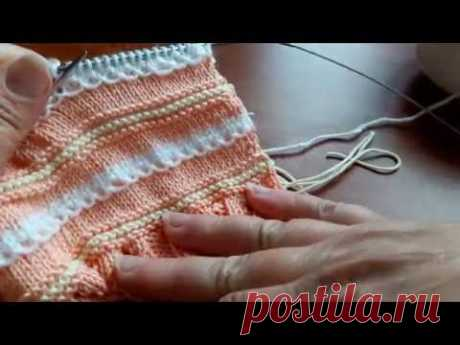 Видеоурок: вяжем спицами оригинальный горизонтальный ряд - Ярмарка Мастеров - ручная работа, handmade