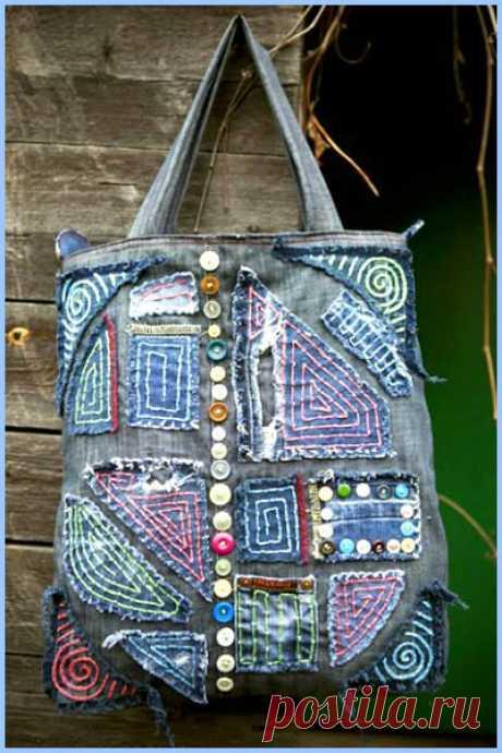BantikovyeAzhurki.blogspot.com: 45 джинсовых идей для женских сумочек.