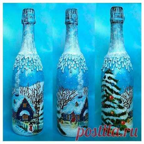 👌 15 идей - декор бутылок к Новому году, увлечения и хобби Каждый праздник мы стараемся сделать особенным. Особенно такой, как Новый год, ведь его любят и дети, и взрослые. В новогоднюю ночь все, непременно, собираются за праздничным столо...