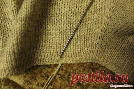 When it is necessary to process edge of a front smooth surface, but you do not want to knit an elastic band (Lessons and MK of KNITTING) — the Inspiration of the Needlewoman Magazine