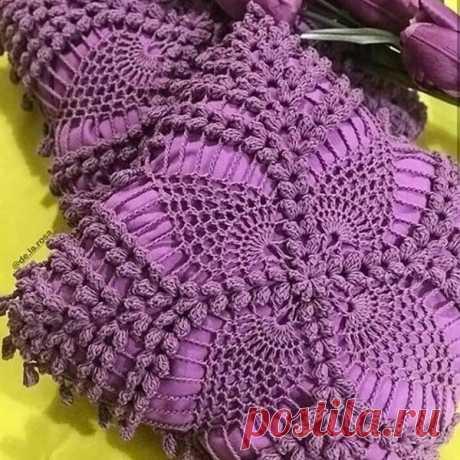 Мотив для вязаной подушки