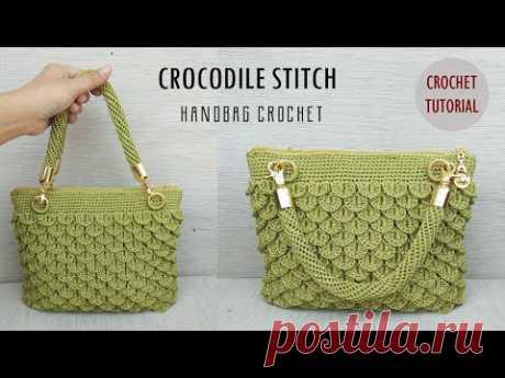 Tas Rajut Motif Crocodile || Crochet Handbag Tutorial