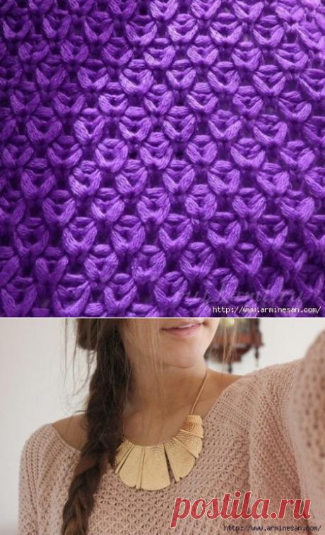 Очень привлекательный узор для пуловера.