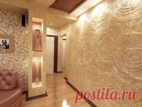 Как быстро сделать ремонт квартиры с неровными стенами Выравнивание стен декоративной шелковой штукатуркой. Описание материала и основных этапов работы.