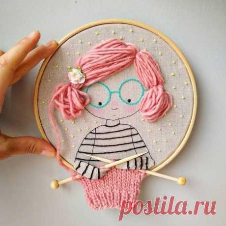 Забавная вышивка — Сделай сам, идеи для творчества - DIY Ideas