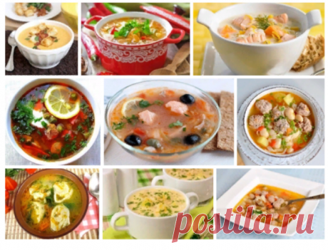 9 рецептов сытных первых блюд