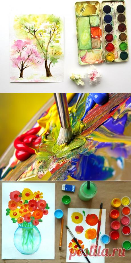 Особенности красок для живописи, или Какой материал для творчества выбрать художнику-новичку