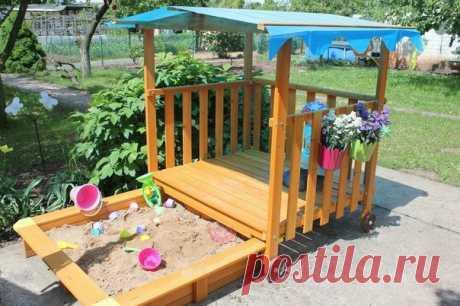 Песочницы. Идеи для дачи и детской площадки.