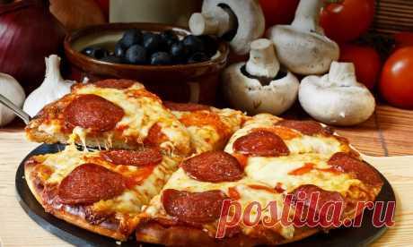Пицца на сковороде: быстрые рецепт от Шефмаркет