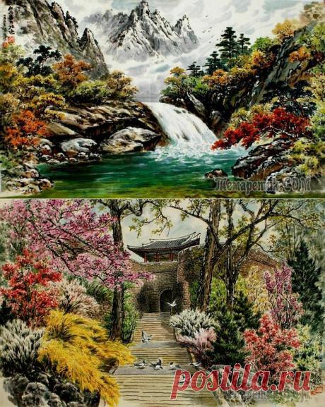 La pintura coreana. Kim Dzhe H±k - Kim Jae Hyok (김재혁). La República Democrática Popular de Corea. La acuarela