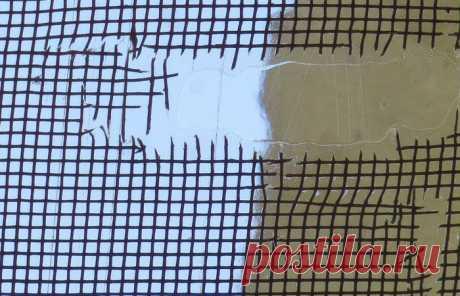 Простой способ заделать дыру в москитной сетке | Делимся советами