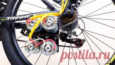 Как сделать электровелосипед на 4 моторах