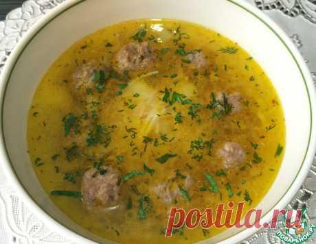 """Суп с фрикадельками и лапшой """"Паутинка"""" – кулинарный рецепт"""