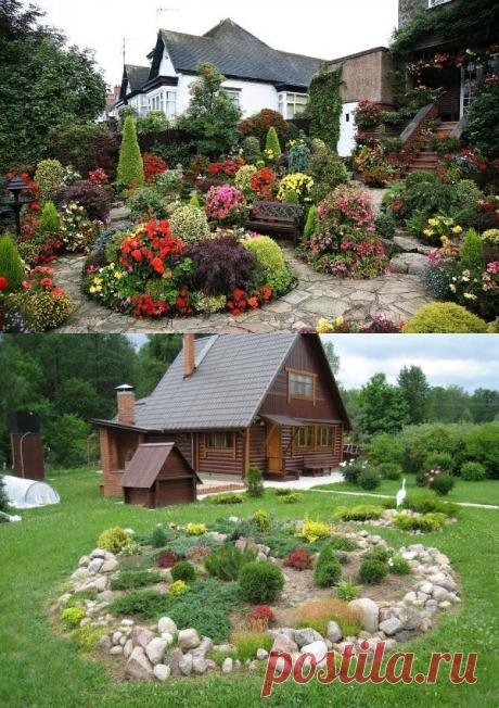Оформление приусадебного участка загородного дома. Дизайн участка: фото лучших идей