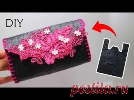 Dompet dari KRESEK bekas | Tas dari Kresek | Pouch from used plastic bags | Reuse plastic bag - YouTube
