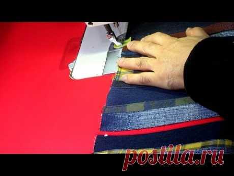 "DIY유행 지난 청바지가 ""명품""으로 환생했어요 2탄/out-of-date jeans have reincarnated into ""luxury goods""/tote bag"