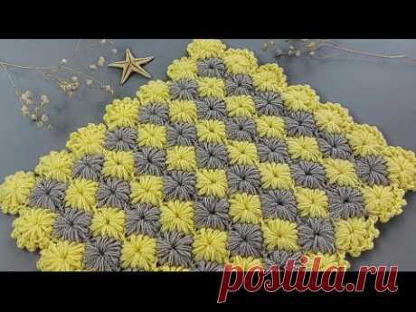 ister lif ister bebek battaniyesi ör / tığ işi kolay örgü modeli yapımı