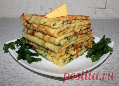 Сырные блинчики с петрушкой — вкуснее не придумать!