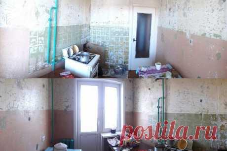 Ремонт кухни, и кухонный гарнитур за 7 тысяч рублей, который девушка сделала своими руками | Как живут другие | Яндекс Дзен