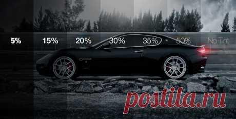 Допустимый процент тонировки стекол автомобиля по ГОСТ