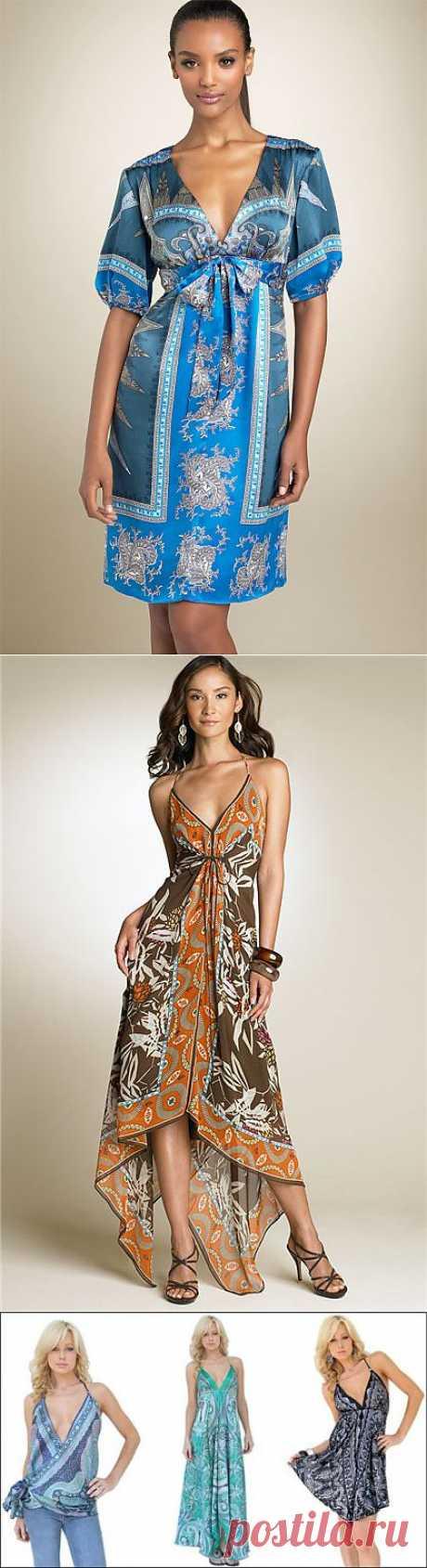 коллекция платьев из платков (Dina M) / Платки / Модный сайт о стильной переделке одежды и интерьера