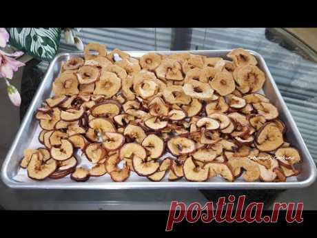 Как сушить яблоки в духовке 🍏🍎 ЧИПСЫ из Яблок!