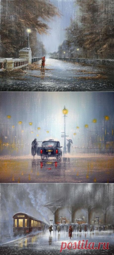 Дождливые картины Джеффа Роланда (Jeff Rowland) | Cовременное искусство | contemporary art