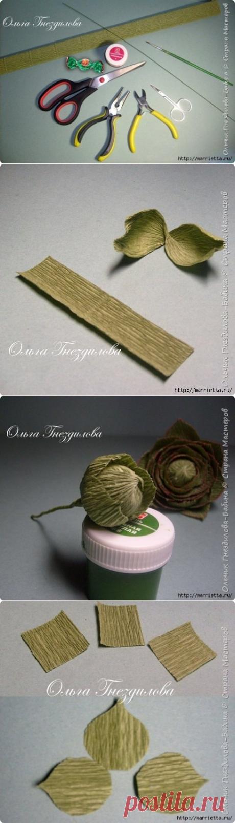 Каменные розы: суккуленты из гофрированной бумаги — Сделай сам, идеи для творчества - DIY Ideas