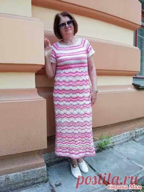Платье. Всем доброго дня!!!  Связала платье спицами из месеризованного хлопка CAMILLA batik 260м -100гр, спицы 3.0 ушло 600гр на мой 50. ..