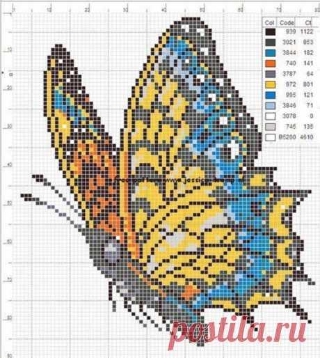 Красивейшие схемы бабочек для ваших кулонов